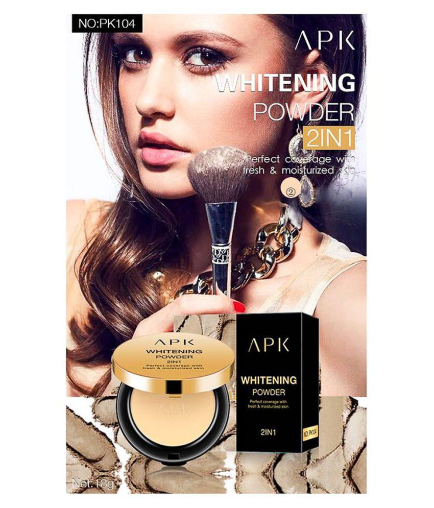 APK Whitening Powder 2 in 1 Pressed Powder PK104-2 With Skin Whitening Cream 125/- 18 g