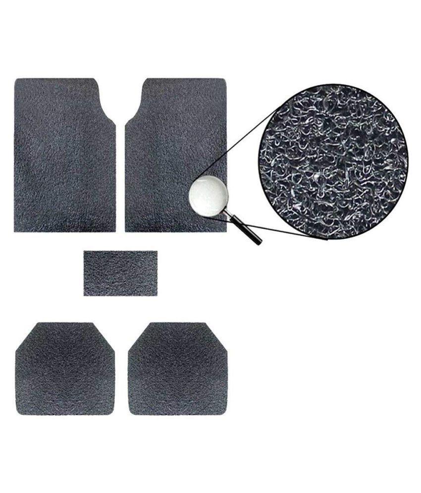 Autofetch Car Anti Slip Noodle Floor Mats (Set of 5) Black for Ford Figo