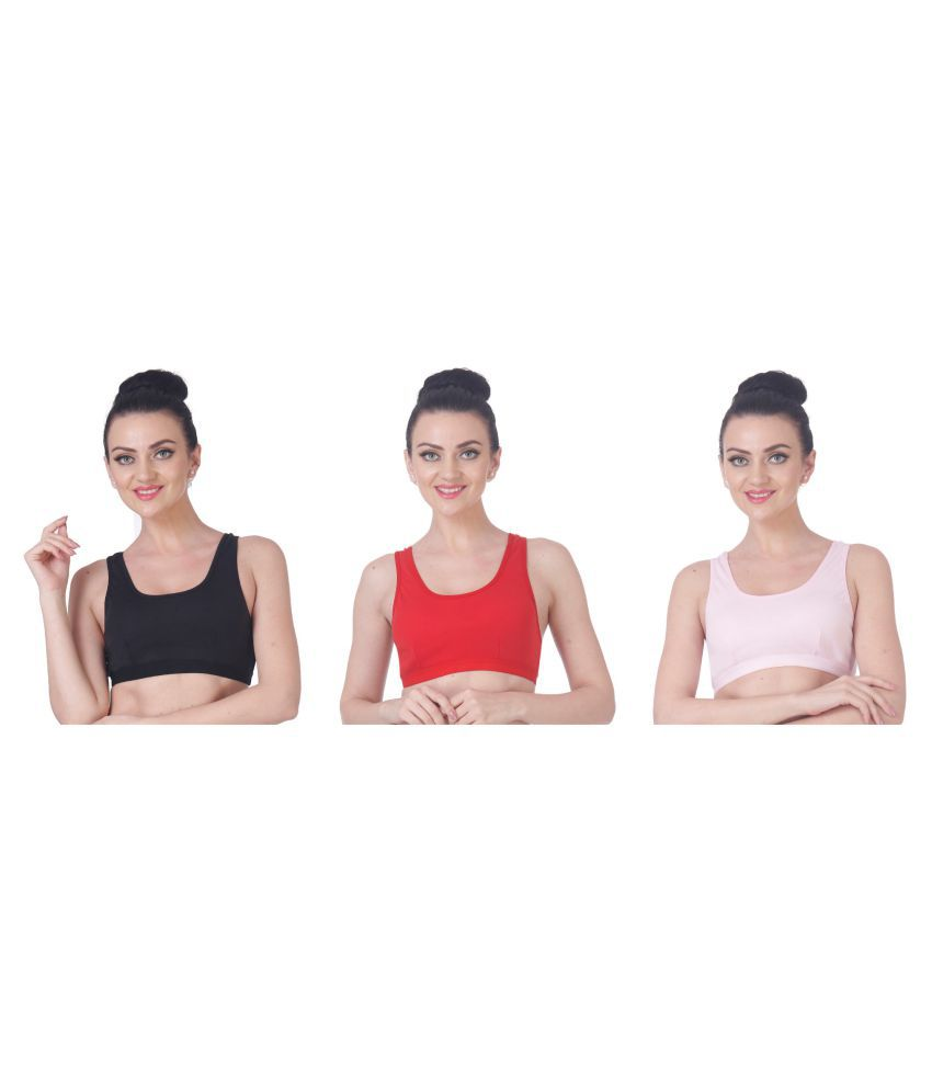 Nutex Sangini Multi Cotton Solid Sports Bra