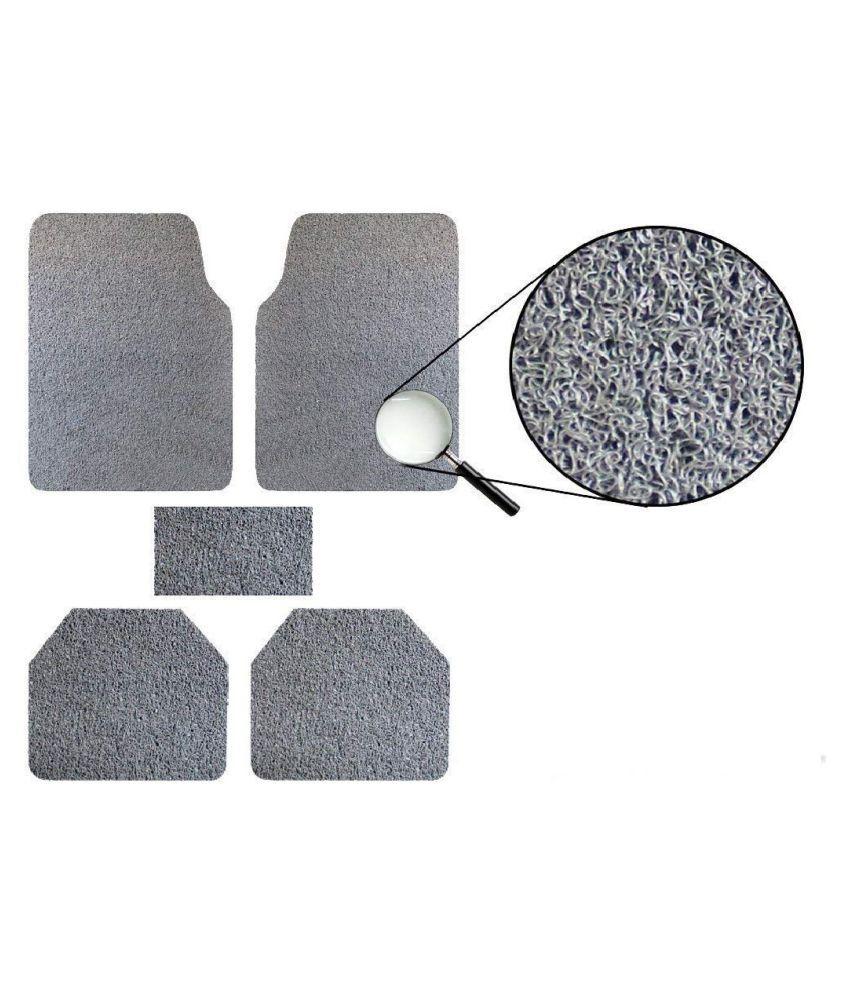 Autofetch Car Anti Slip Noodle Floor Mats (Set of 5) Grey for Datsun Go