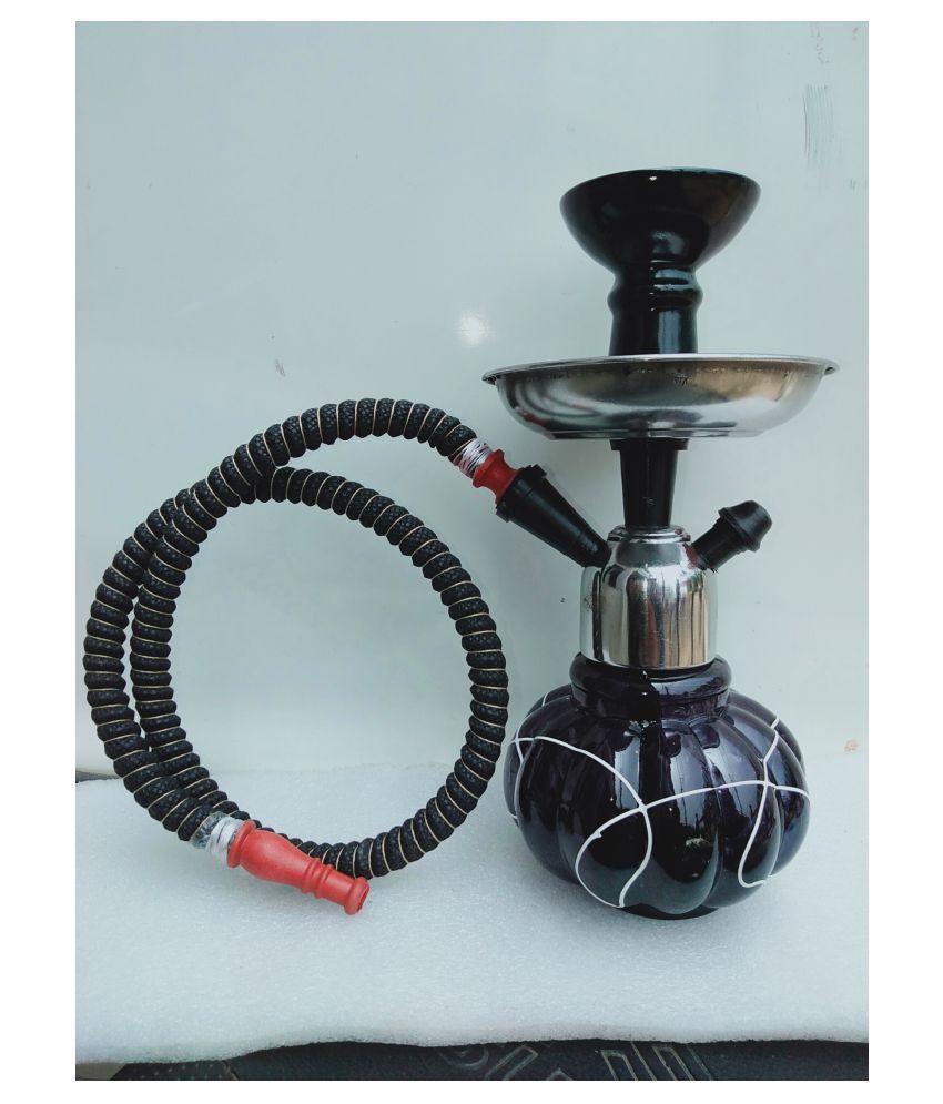 Brrl Black 20 Cm Glass Table Hookah Pack Of 1 Buy Brrl Black 20