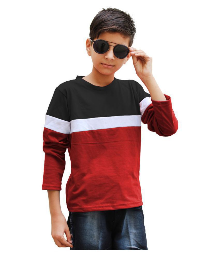 Lime 100 % cotton Round Neck Regular fit Full Sleeve t Shirt for Boys