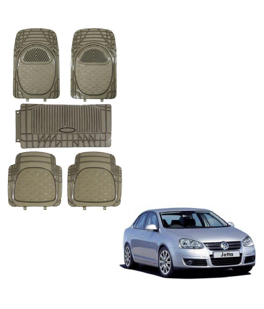 Auto Addict Car Rubber PVC Car Mat 6205 Foot Mats Smoke Color Set of 5 pcs For Volkswagen Old Jetta (2008-2015)