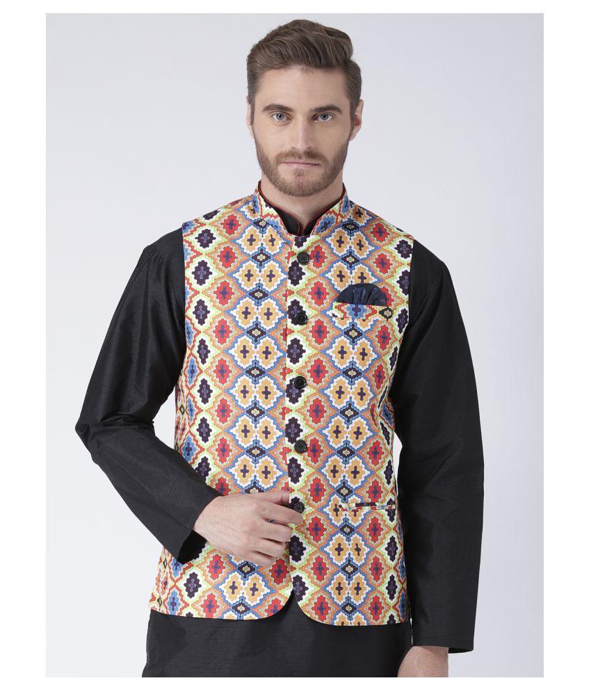 Hangup Multi Polyester Blend Nehru Jacket
