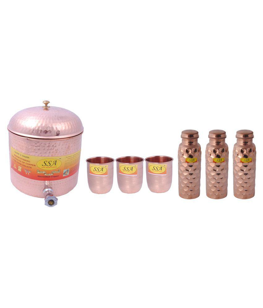 Shiv Shakti Arts Water Drinkware Pot 7 Pcs Lemon set