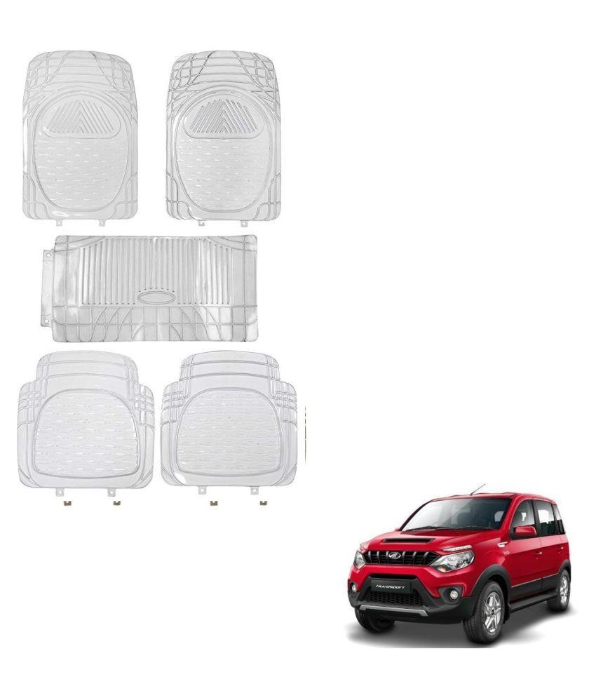 Auto Addict Car Rubber PVC Car Mat 6205 Foot Mats Clear Color Set of 5 pcs For Mahindra NuvoSport