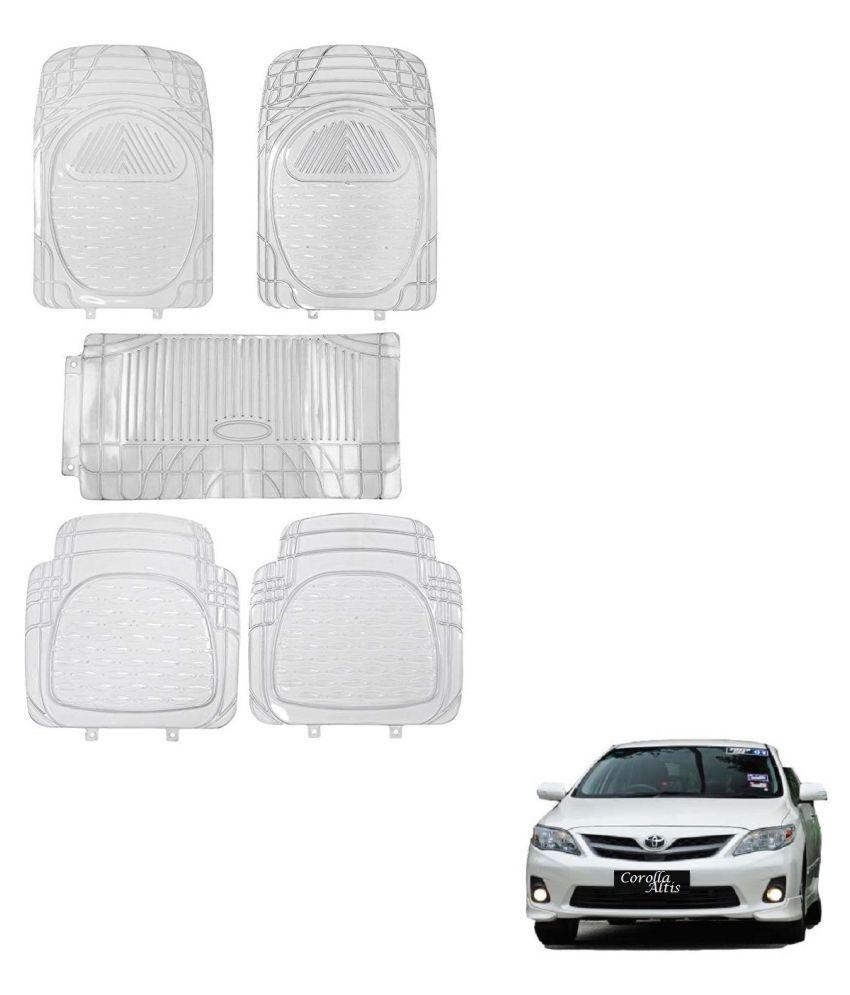 Auto Addict Car Rubber PVC Car Mat 6205 Foot Mats Clear Color Set of 5 pcs For Toyota Corolla Old Altis