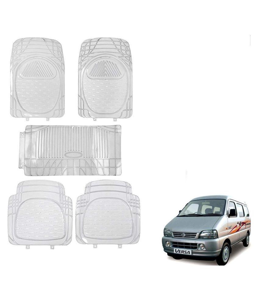 Auto Addict Car Rubber PVC Car Mat 6205 Foot Mats Clear Color Set of 5 pcs For Maruti Suzuki Versa
