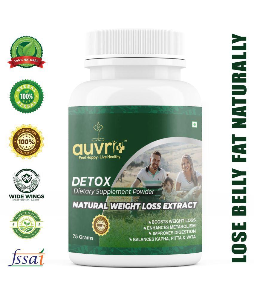 AUVRIPLUS Detox ayurvedic weight loss natural herbal product Powder 75 gm
