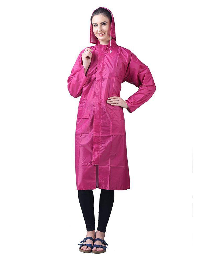 Sanchi Creation Waterproof Nylon Long Raincoat - Multi Color