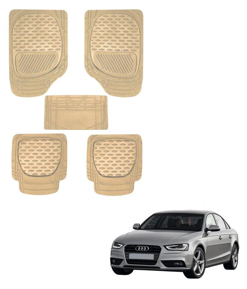 Auto Addict Car 6255 TW Rubber PVC Heavy Mats Beige Color Set Of 5 Pcs For Audi A4