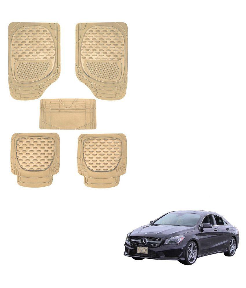 Auto Addict Car 6255 TW Rubber PVC Heavy Mats Beige Color Set Of 5 Pcs For Mercedes Benz CLA-Class