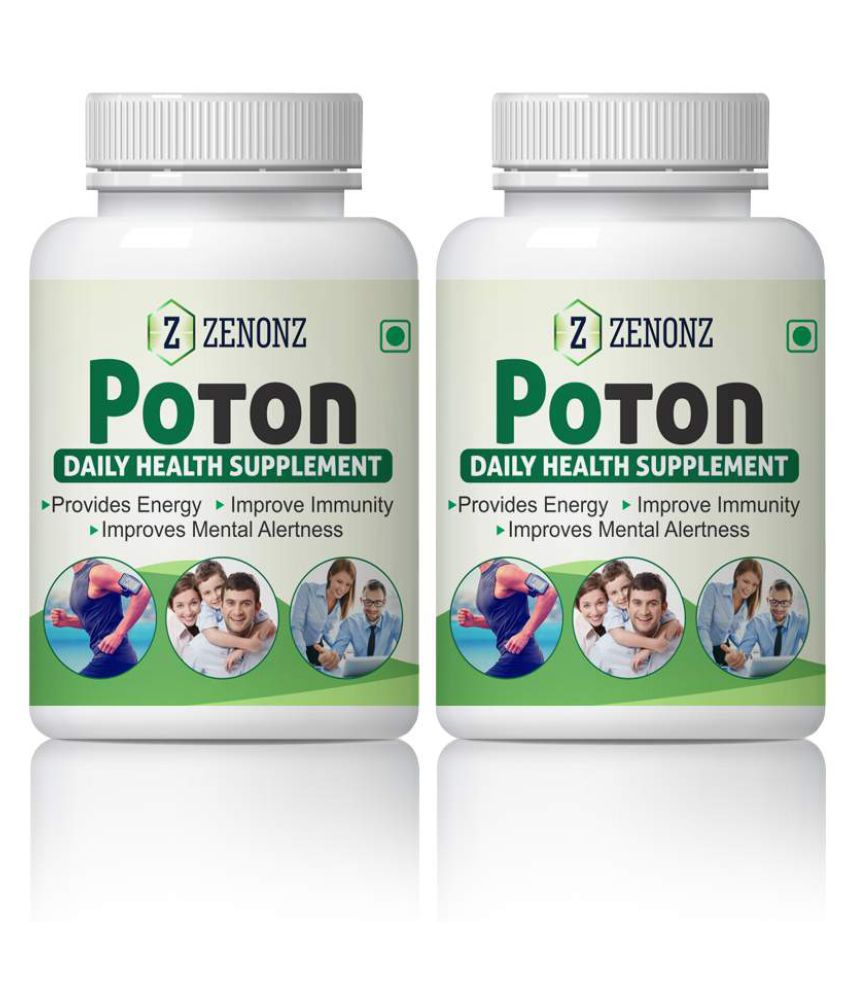 zenonz Poton Mental Alertness & Energy System Capsule 500 mg Pack Of 2