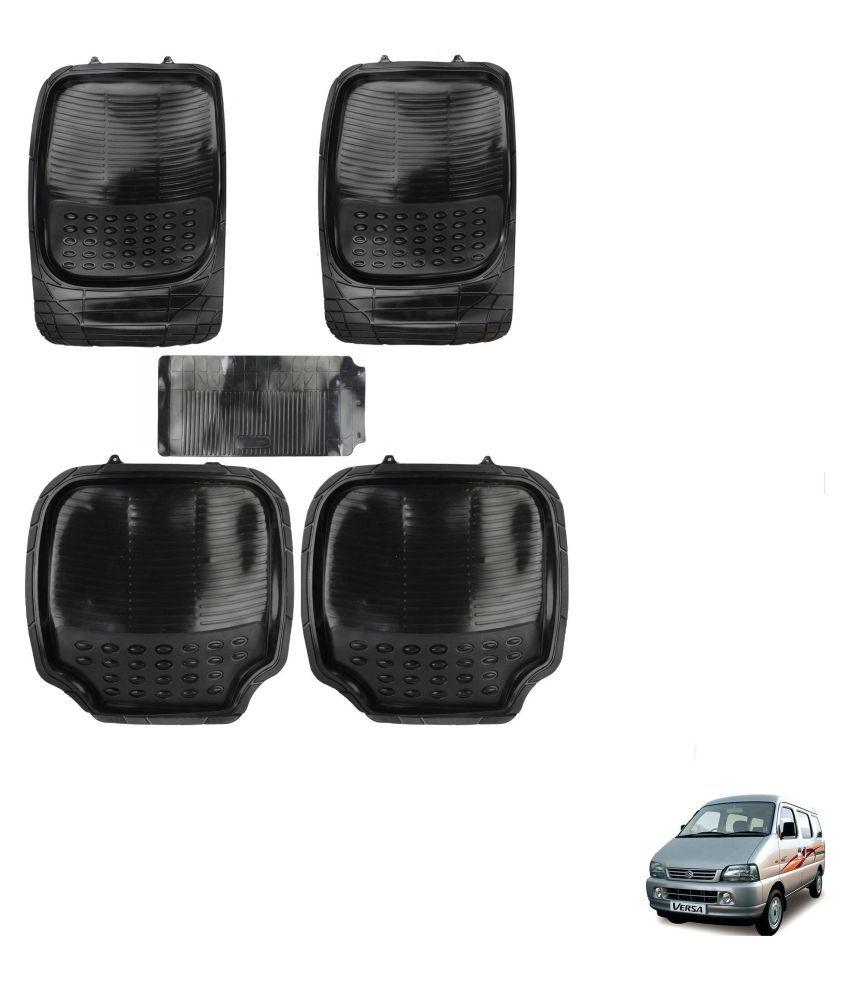Auto Addict Car 4G Black Rubber PVC Heavy Mats Set Of 5 Pcs For Maruti Suzuki Versa