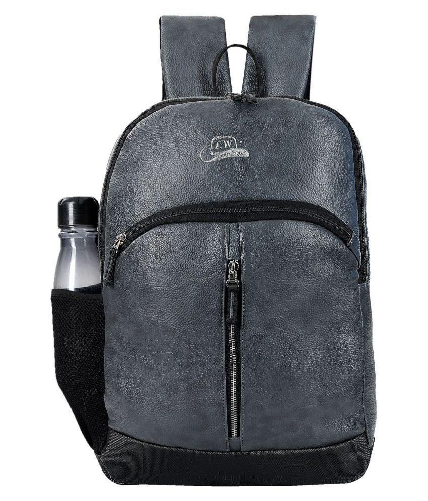 Leather Gifts Grey P.U. College Bag