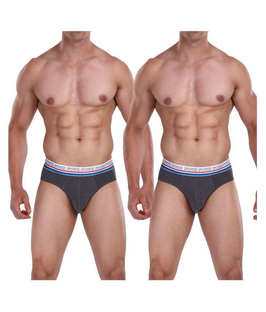 FCUK Black Brief Pack of 2