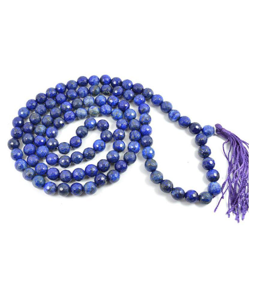 8mm Blue Lapis Lazuli Faceted  Natural Agate Stone Mala
