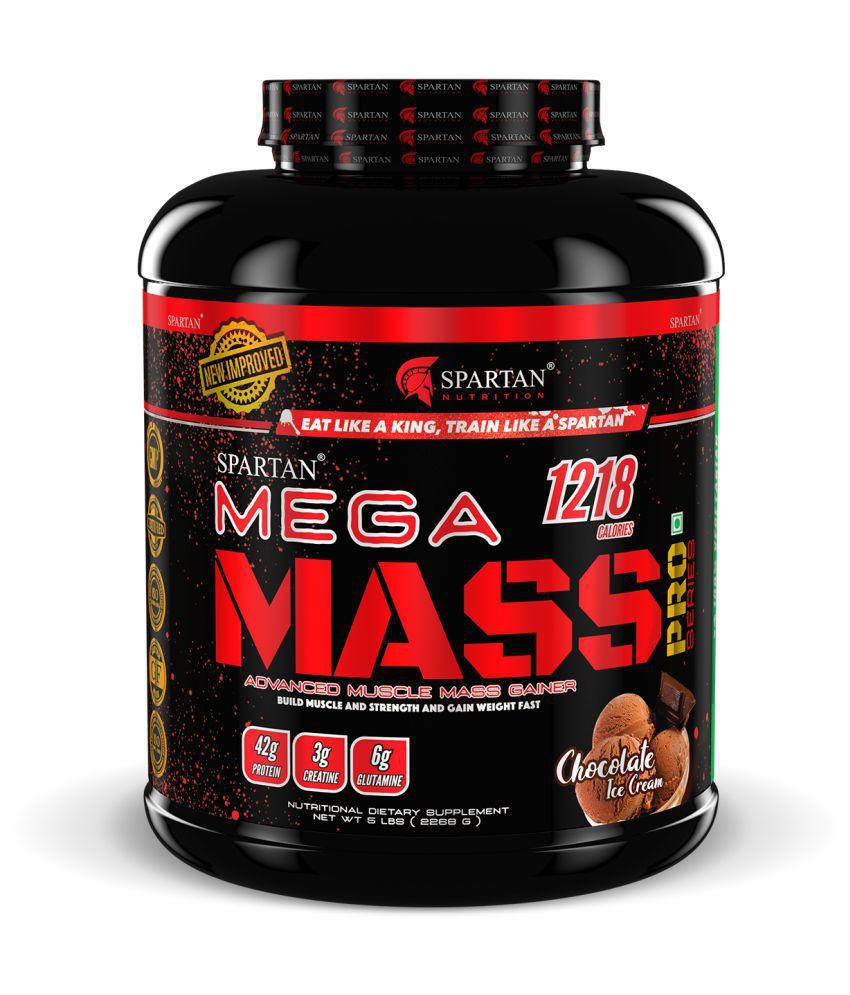 Spartan Mega Mass Pro Series Weight/Mass Gainer 2268 gm Weight Gainer Powder Single Pack