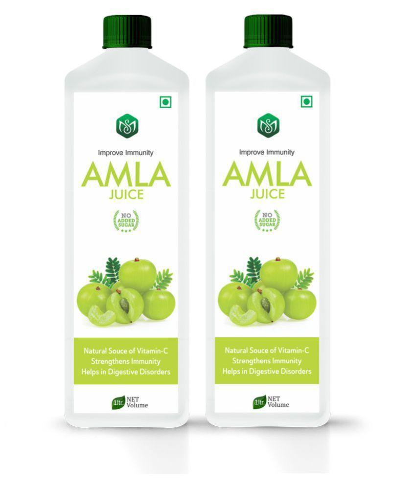 Scorlife Amla Juice Sugar Free [Pack of 2] Health Drink 1000 ml