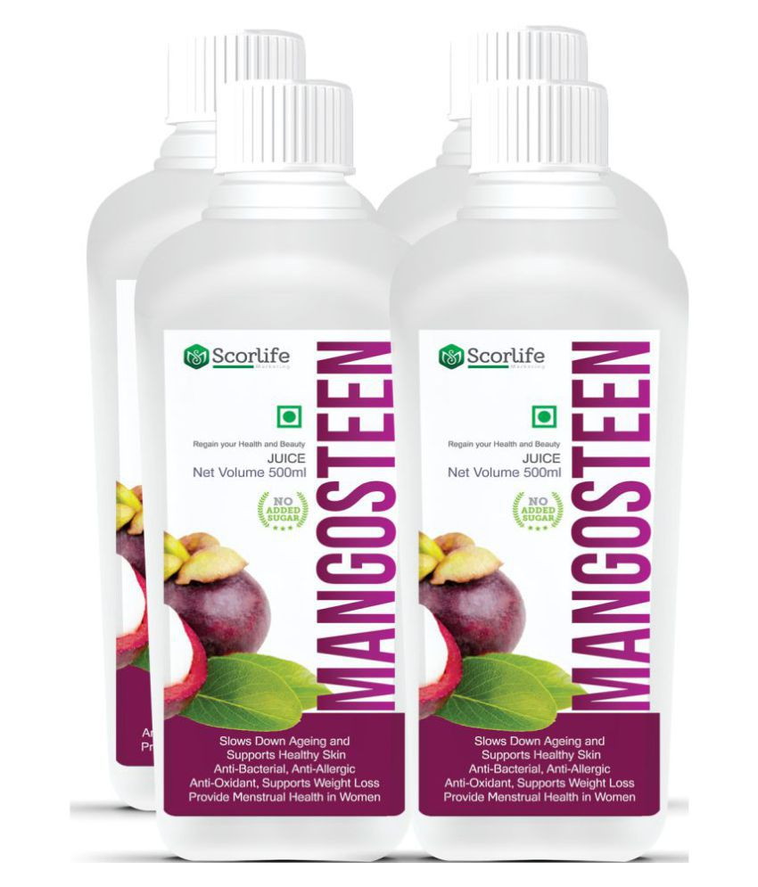 Scorlife Mangosteen Juice-500ml.(Pack of 5) Health Drink 500 ml