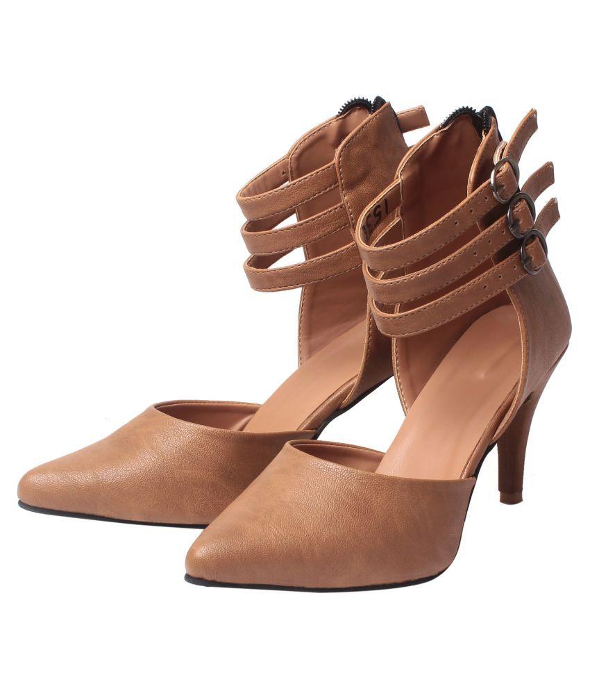 MSC Brown Stiletto Heels