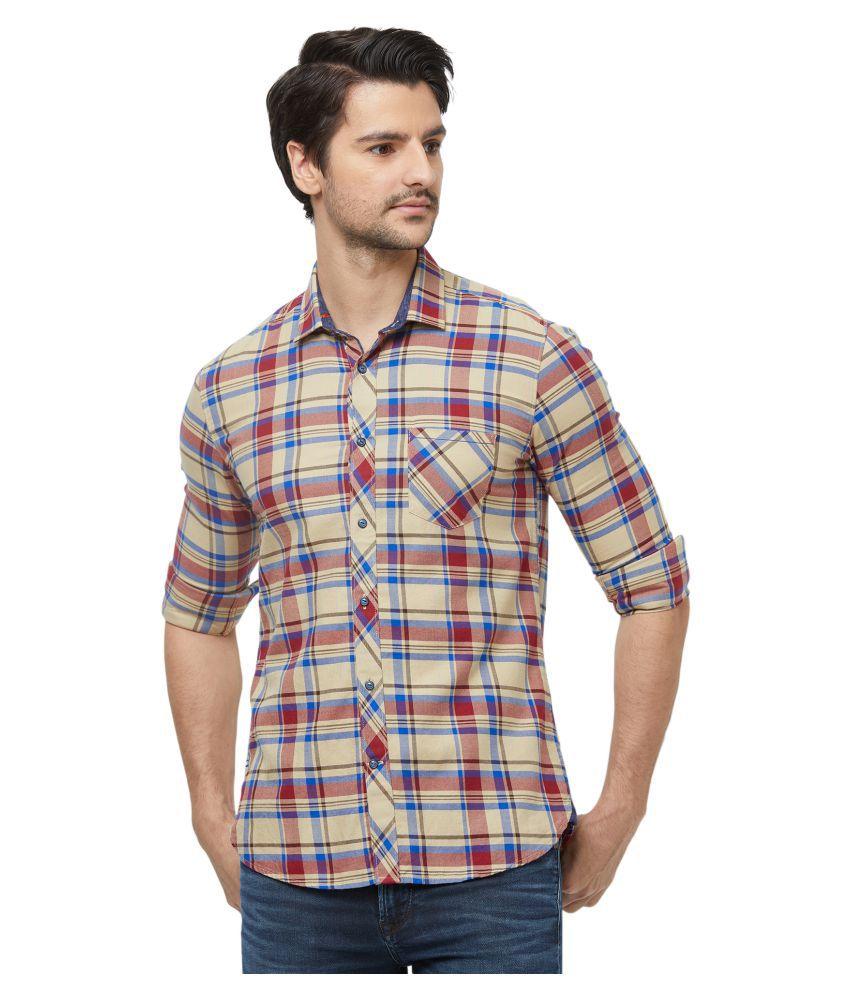 Killer 100 Percent Cotton Multi Checks Shirt