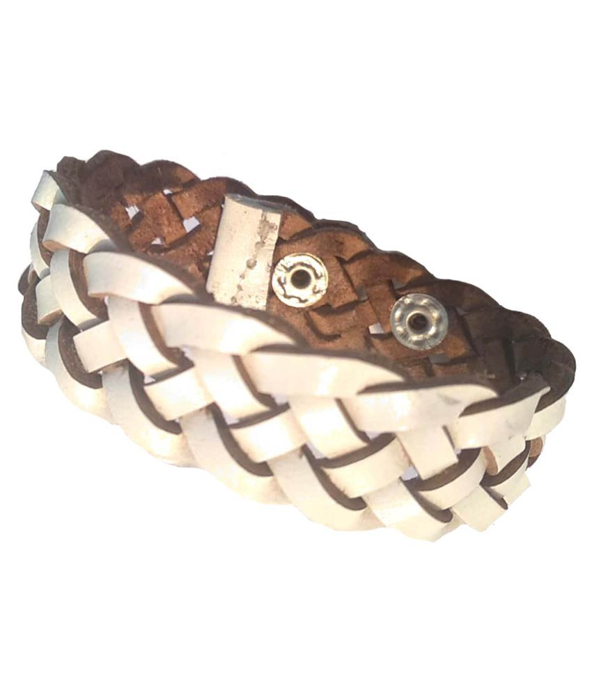 Forever99 Latest Genuine Leather Handmade Braided Bracelet For young Boy