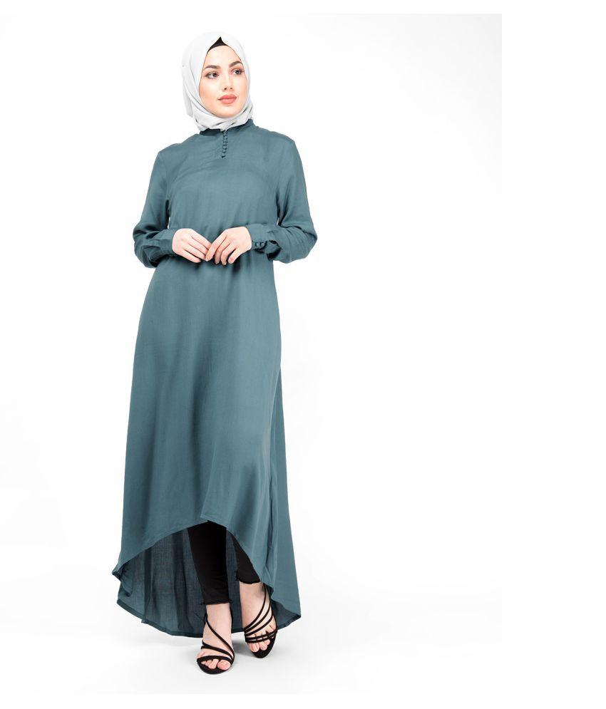 Silk Route London Rayon Blue Asymmetric dress