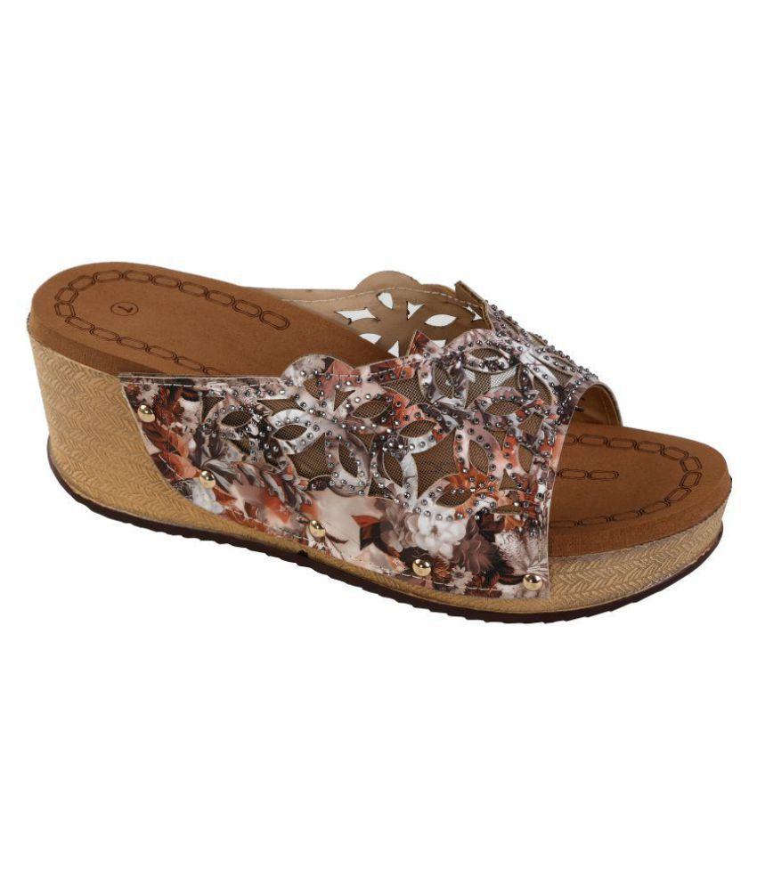 Zappy Multi Color Wedges Heels