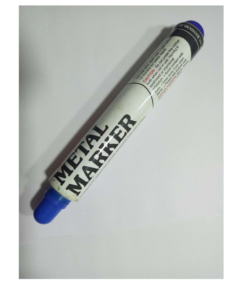 Century 2MM Blue Permanent Metal Marker Pump Type