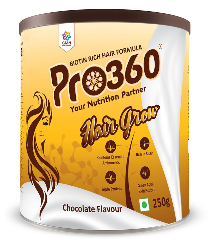 PRO360 Hair Grow Health Drink Powder 250 gm Chocolate