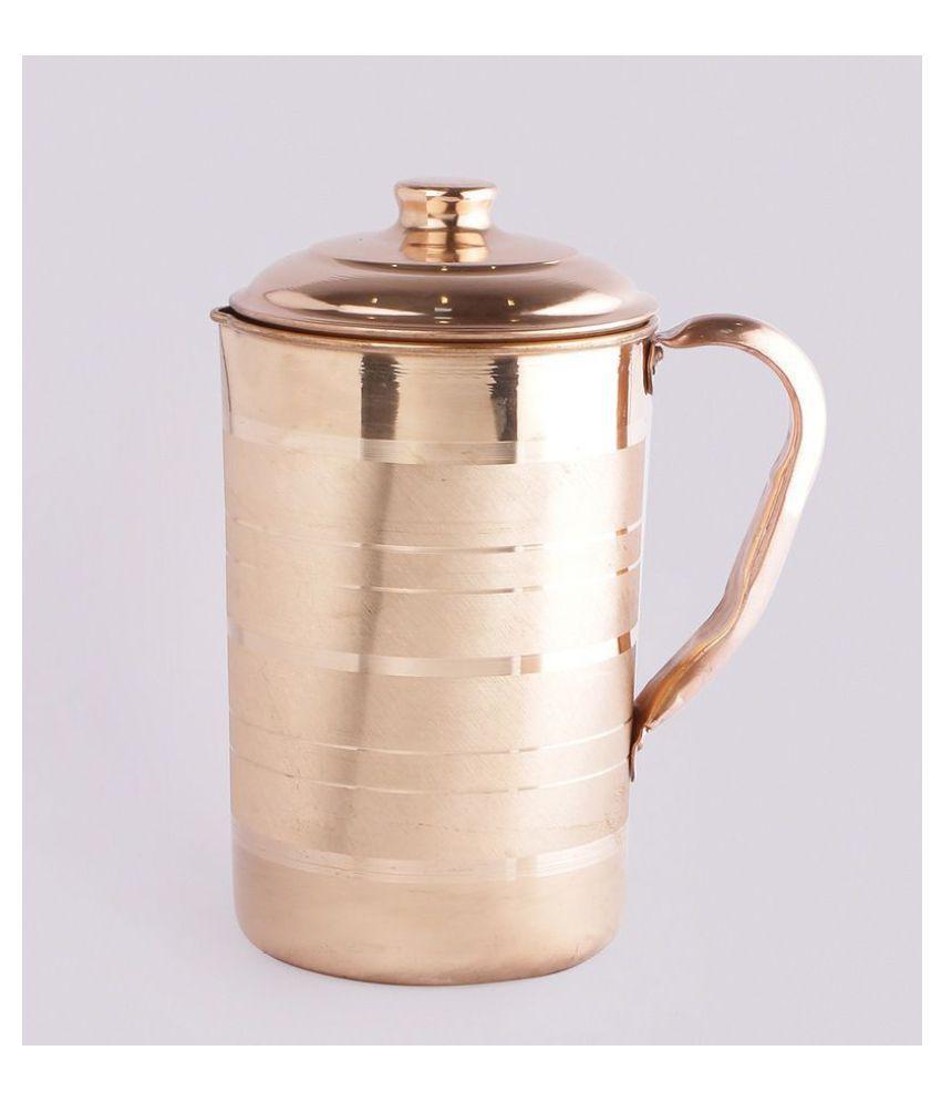 72cf3a90e26 KC Copper 1.5L Jug, 1L Water Bottle and 300ml -3 Glass | 5 Pcs Combo