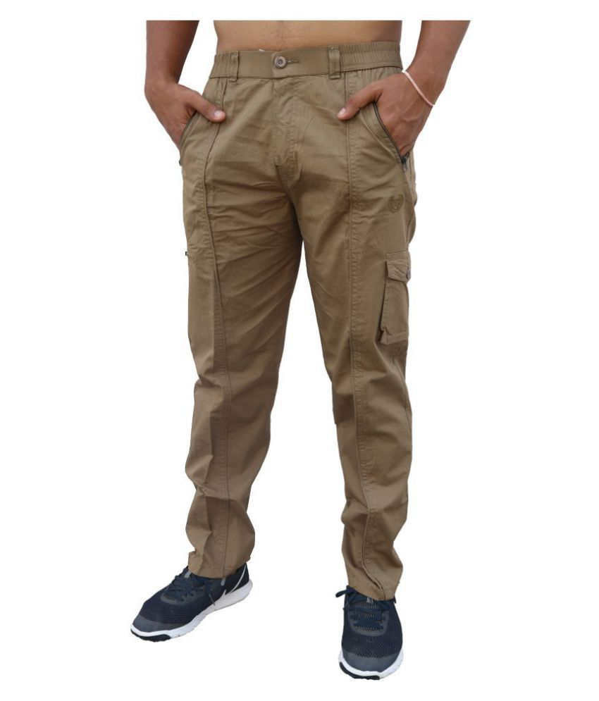 Clothonics Green Regular -Fit Flat Cargos