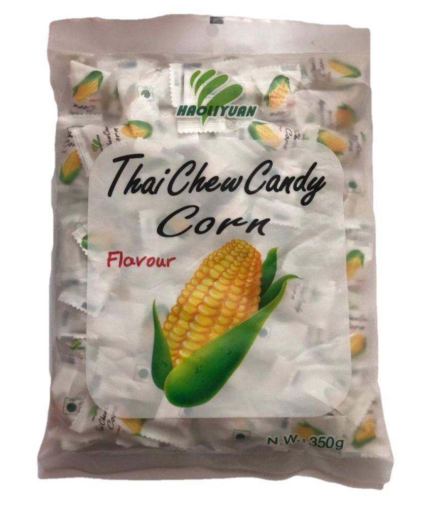 Imported Haoliyuan Thai Chew Candy Corn Flavour Filled Candies 350 gm