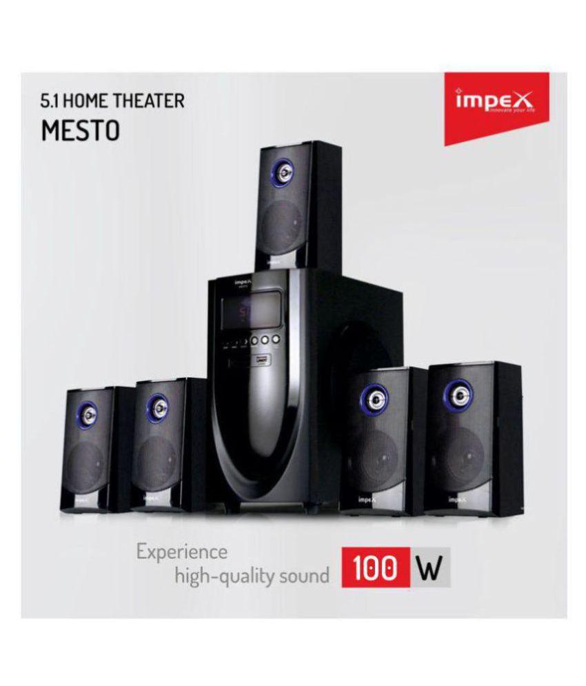 Impex MESTO home theatre 5 1 Speaker System