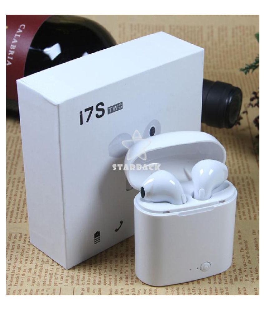 I7s Bluetooth Headsets Bluetooth Headset White Color White I7s Tws Blutooth Headset Bluetooth Headset White Bluetooth Headsets Online At Low Prices Snapdeal India