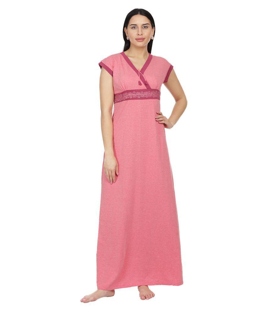 Honeydew Cotton Nighty & Night Gowns - Pink