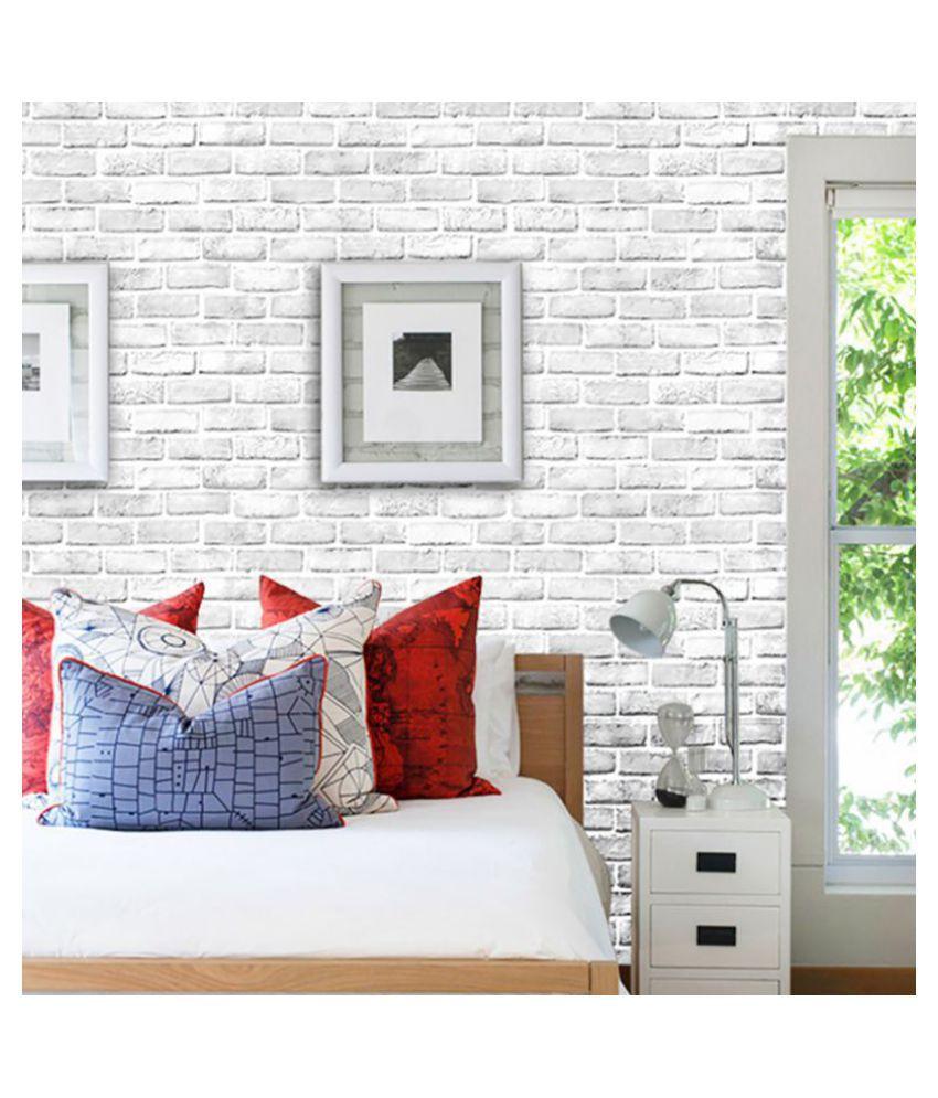 Stripe Brick Wall Sticker Diy Home
