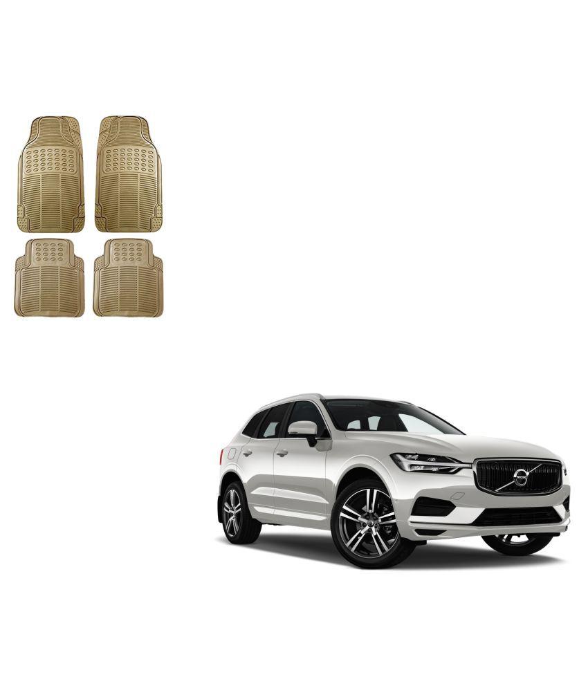 Auto Addict Car Simple Rubber Beige Mats Set of 4Pcs For Volvo XC60