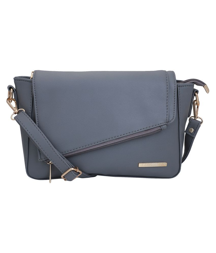 Lapis O Lupo Grey Synthetic Casual Messenger Bag
