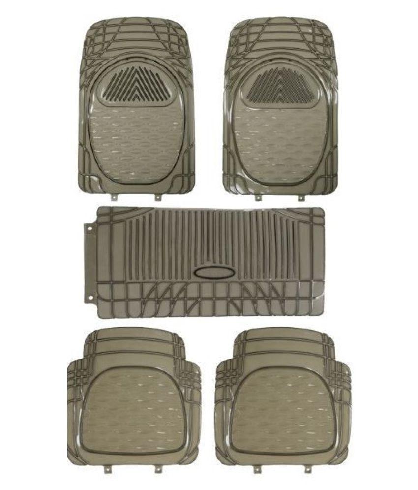 Autofetch Car Floor/Foot Mats (Set of 5) Smoke for Hyundai Santro Xing