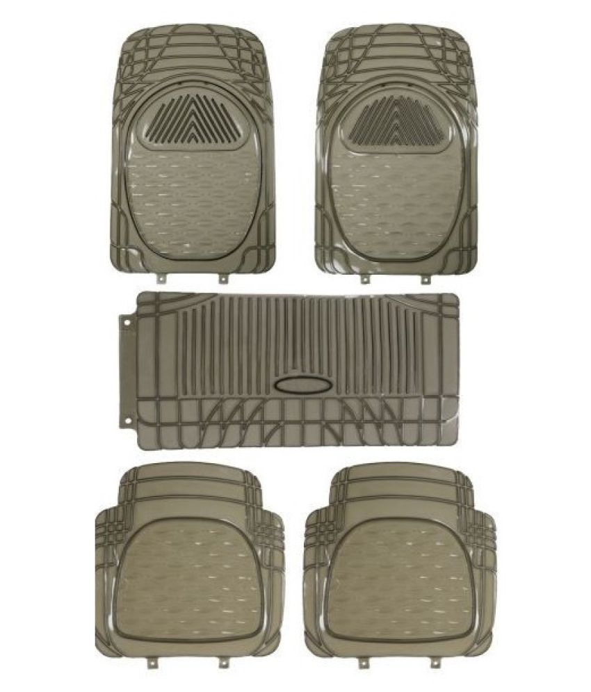 Autofetch Car Floor/Foot Mats (Set of 5) Smoke for Universal for all Car
