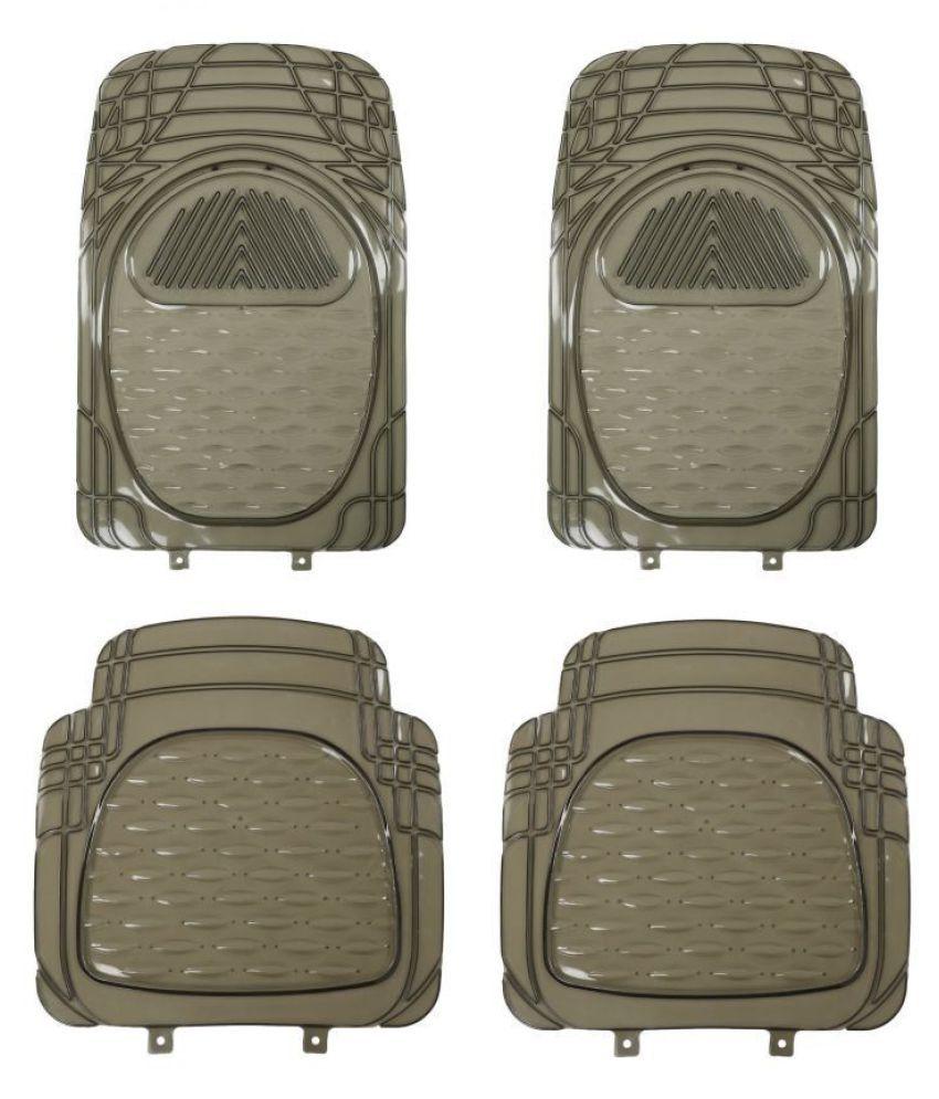 Autofetch Car Floor/Foot Mats (Set of 4) Smoke for Fiat Palio