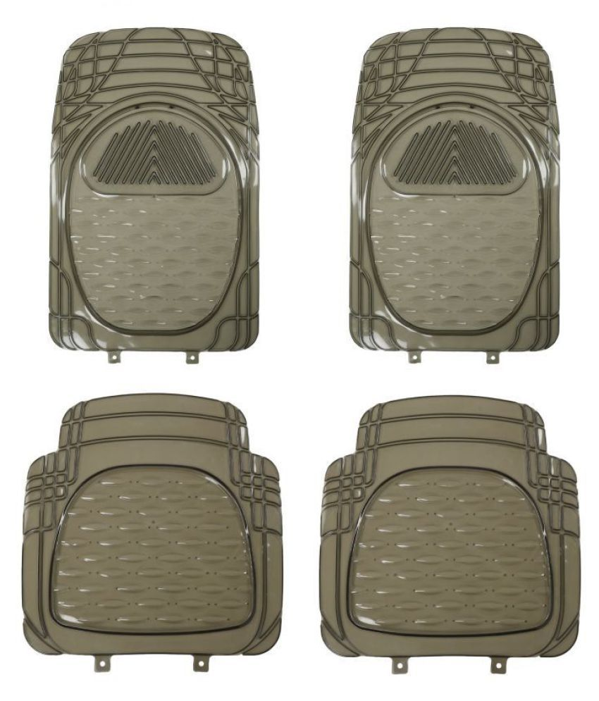 Autofetch Car Floor/Foot Mats (Set of 4) Smoke for Hyundai Santro 2018