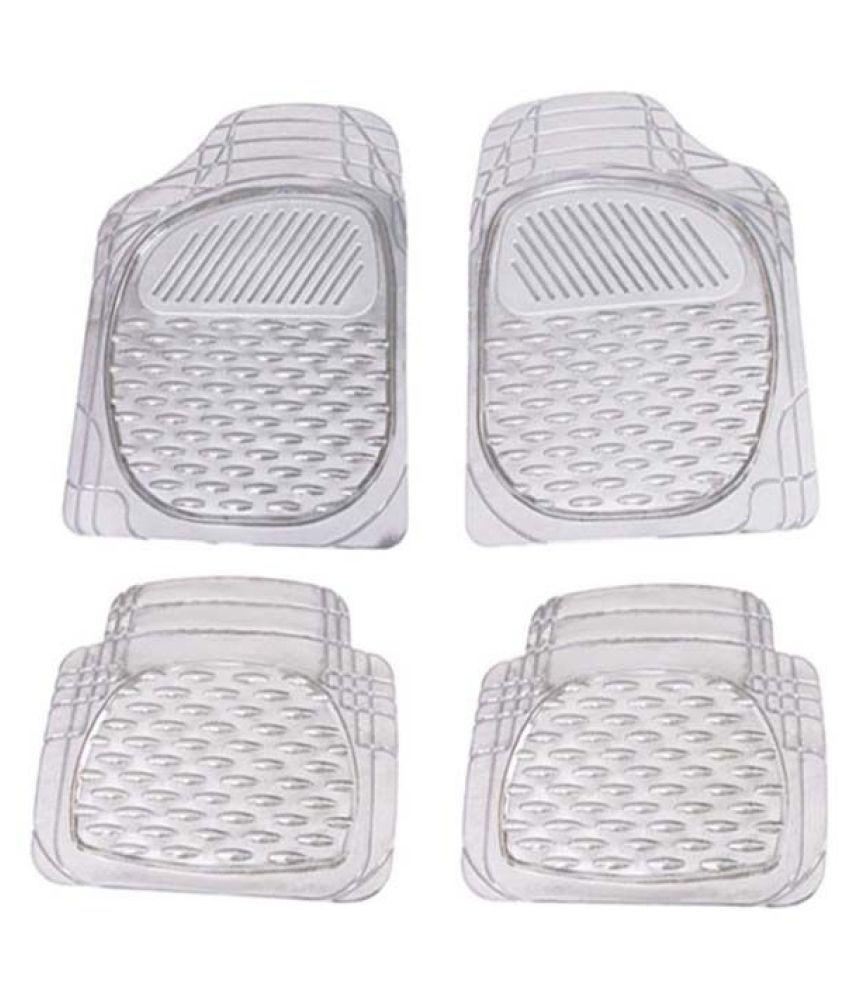 Autofetch Car Floor/Foot Mats (Set of 4) Transparent White for Hyundai Elantra Fluidic