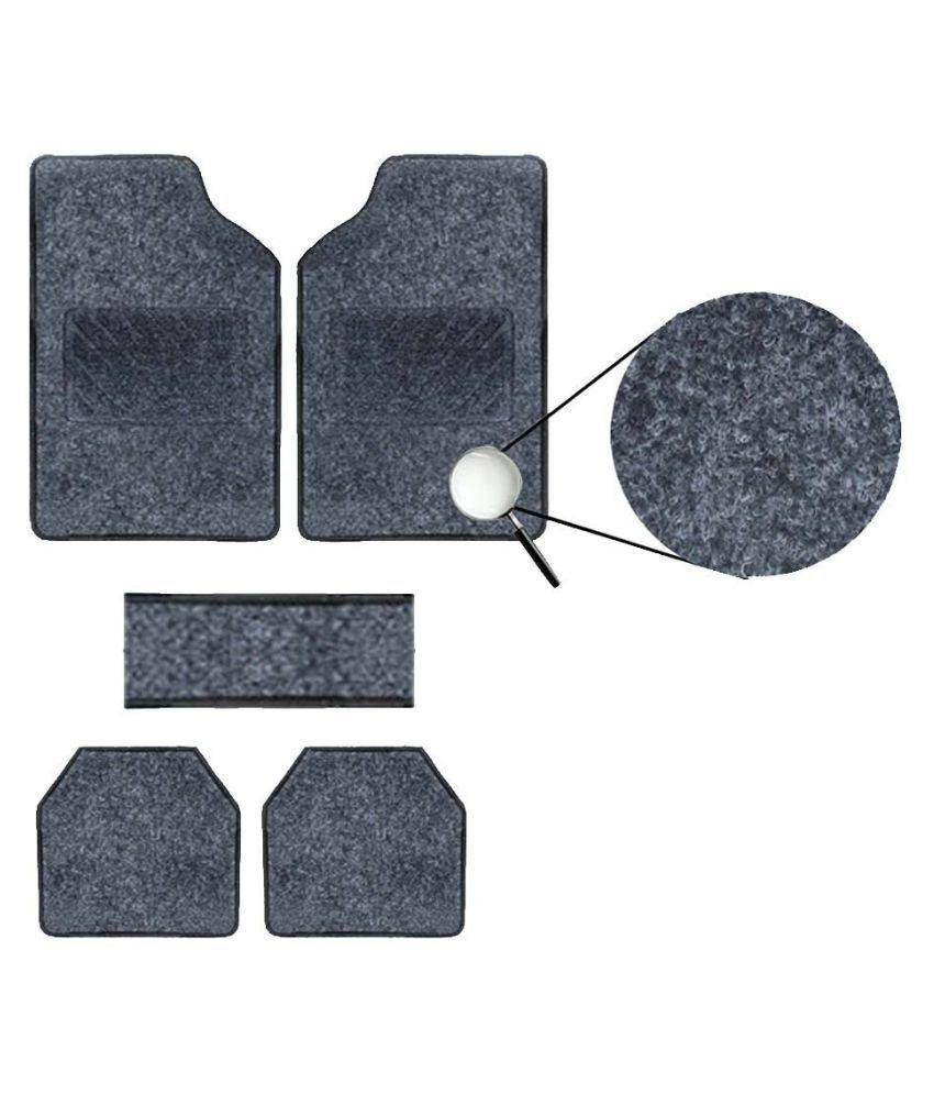 Autofetch Carpet Car Floor/Foot Mats (Set of 5) Black for Maruti Swift Dzire