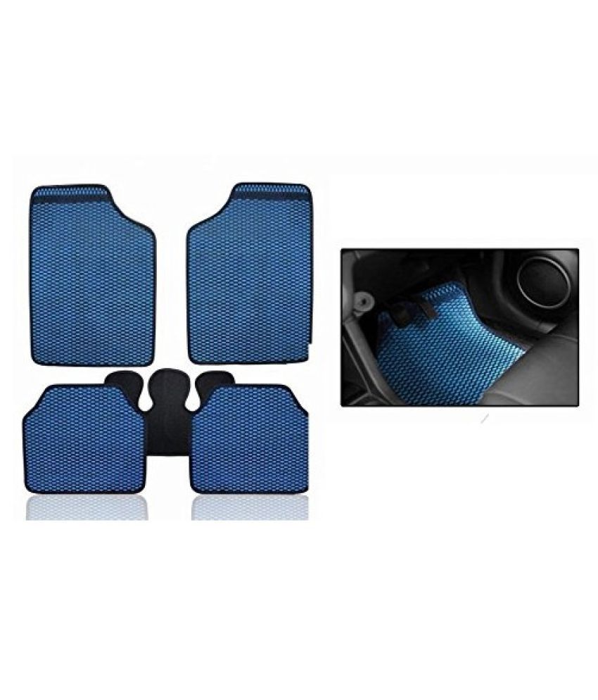 Autofetch Car Eclipse Odourless Floor/Foot Mats (Set of 5) Blue for Hyundai Santro Xing