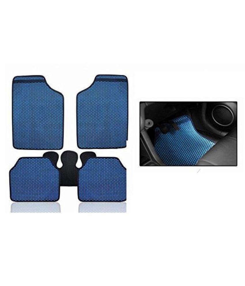 Autofetch Car Eclipse Odourless Floor/Foot Mats (Set of 5) Blue for Hyundai Verna Transform