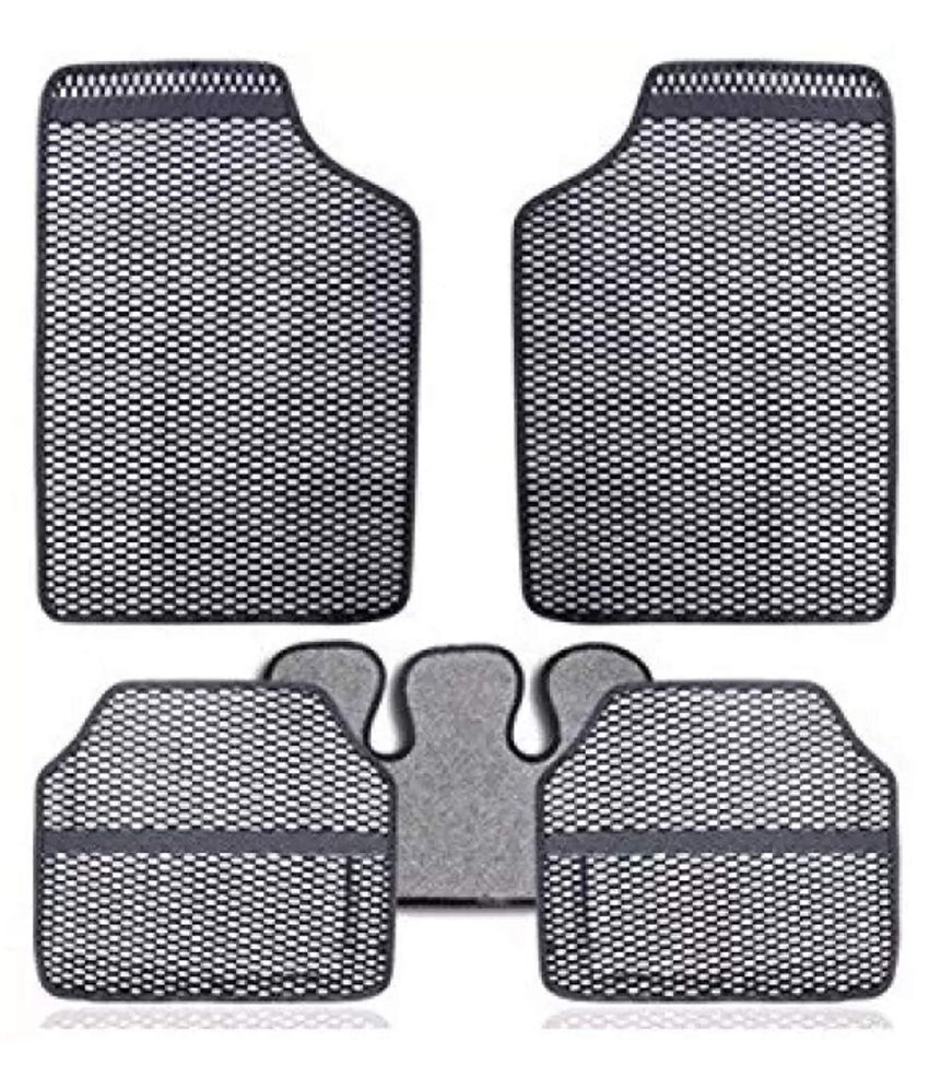 Autofetch Car Eclipse Odourless Floor/Foot Mats (Set of 5) Grey for Chevrolet Spark (2008-2015)