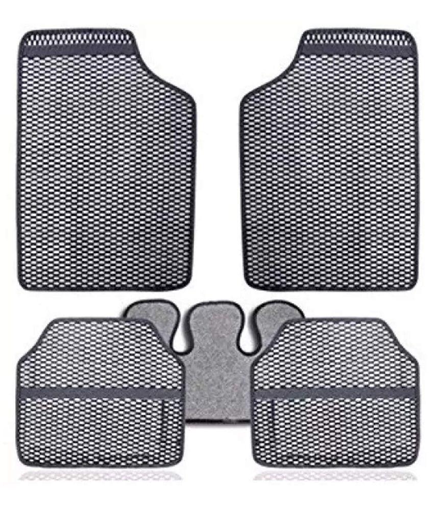 Autofetch Car Eclipse Odourless Floor/Foot Mats (Set of 5) Grey for Hyundai Verna Transform